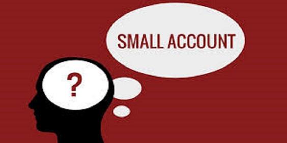 3 - معامله کردن با یک حساب کوچک